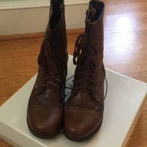 Steve Madden Combat Boots Size 8